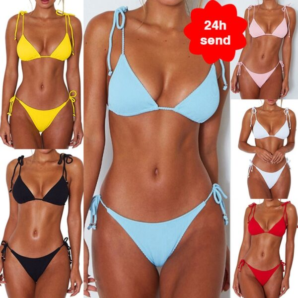 2020 Women Fashion Padded Bra Bikini Set Swimsuit