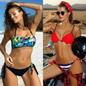 Sexy Push Up Bikini 2020 New Micro Swimwear Women Print Swimsuit