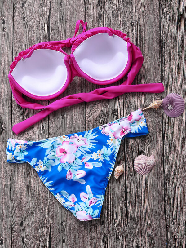 Folded Shell Mermaid Strapless Bikini Set